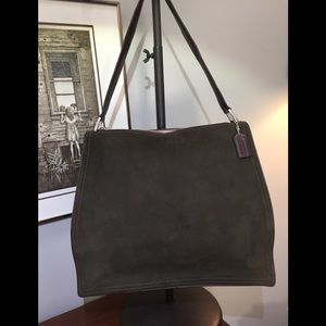 Vintage Coach Monterey Olive Green shoulder bag